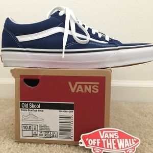 Old skool vans estate blue/white